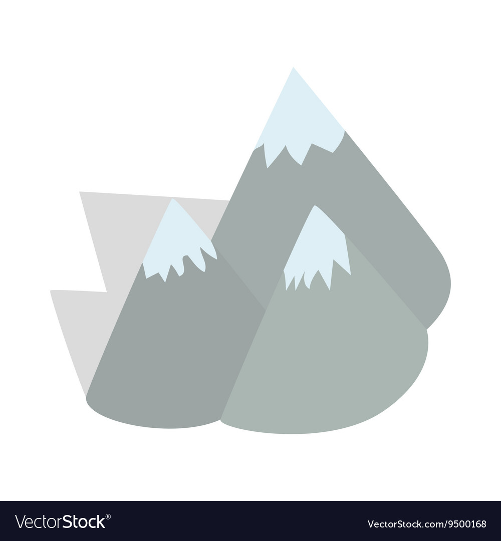 Moutains Sweden icon isometric 3d style vector image