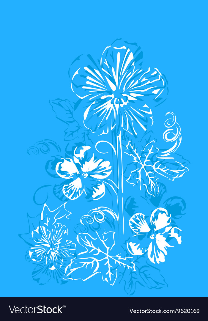 Abstract flowers buttercups vector image