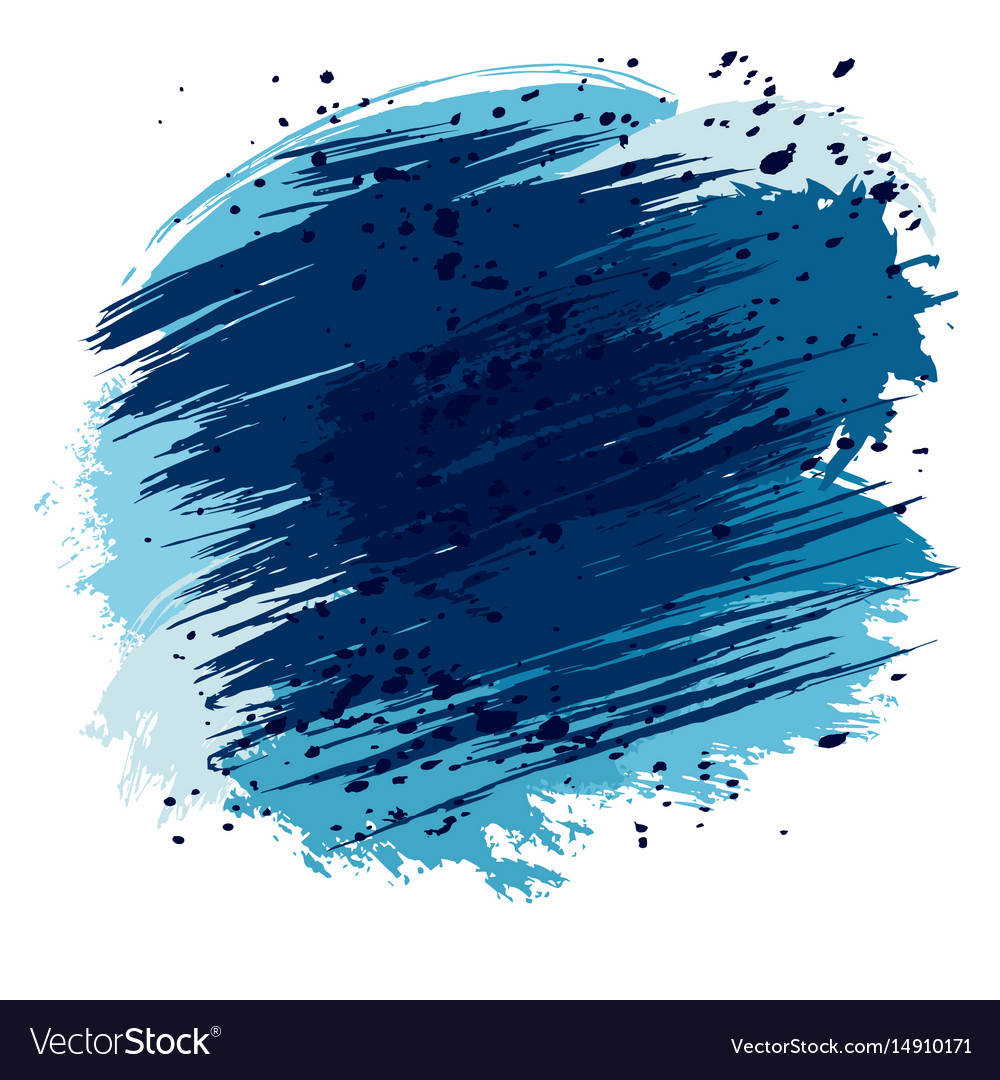Blue splashes and spots vector image