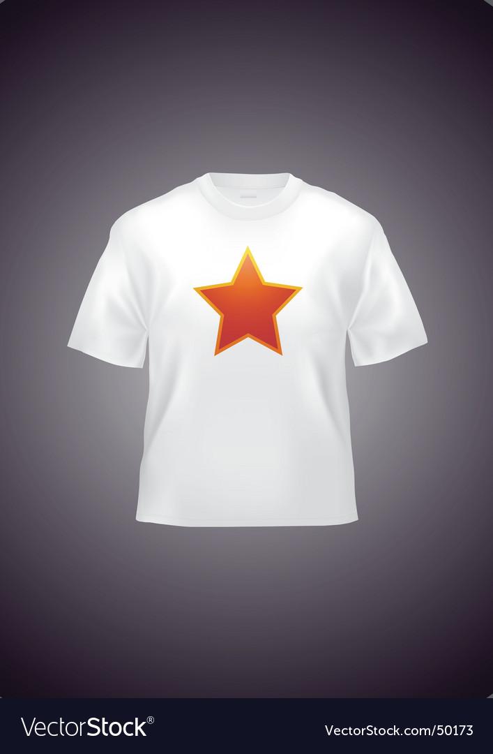 White t-shirt Vector Image