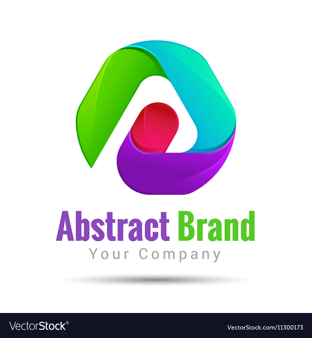 Abstract logo corporate icon design set Isolated vector image