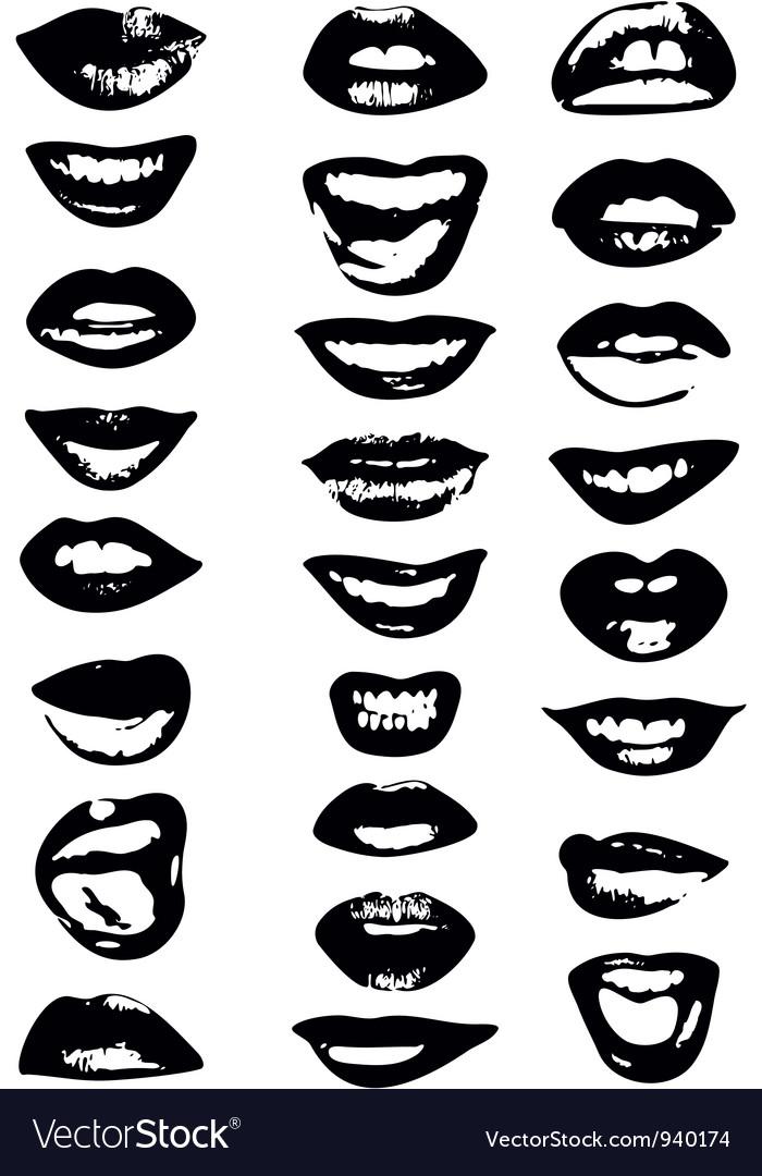 Lips Set Woman vector image