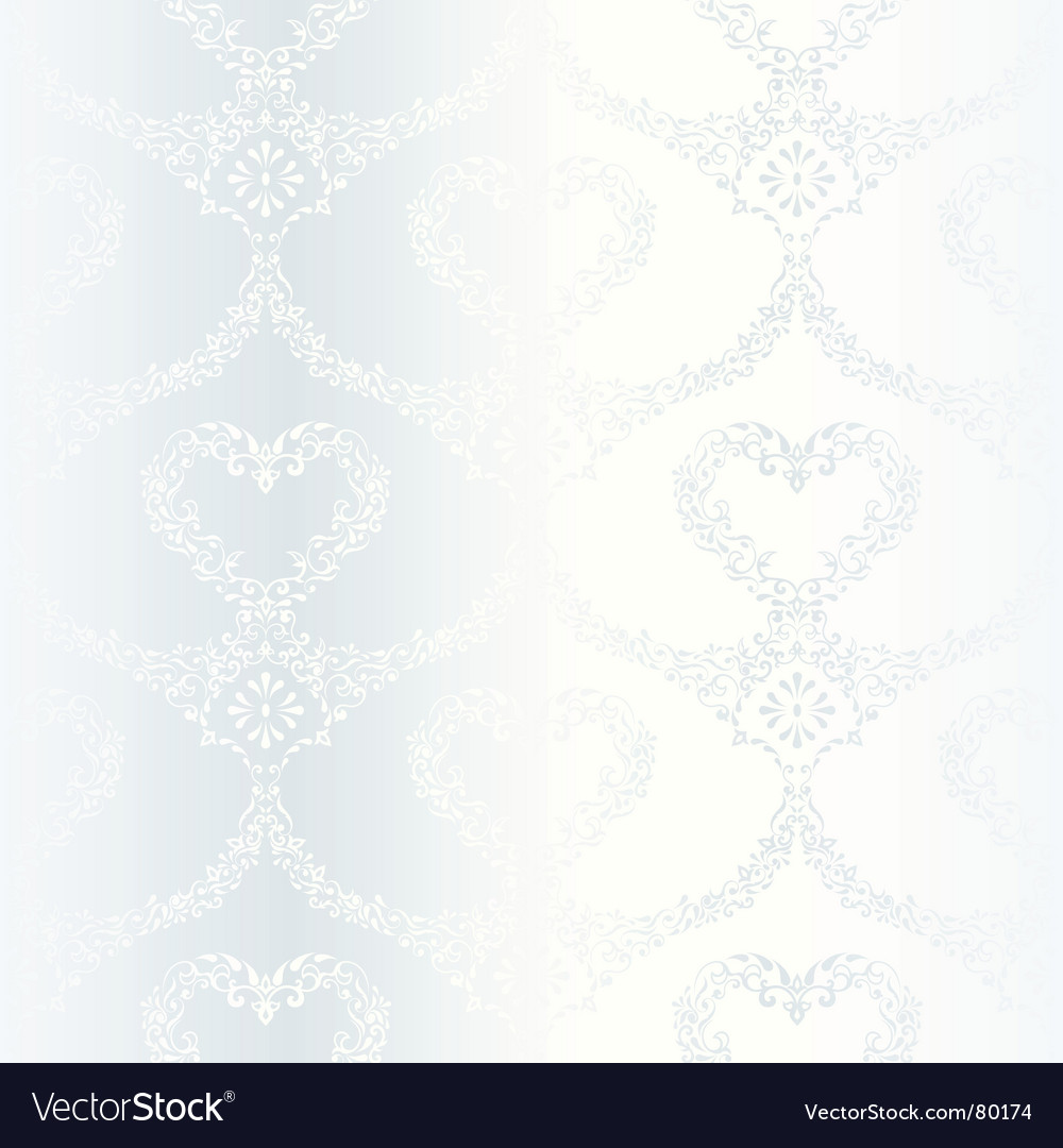 Victorian White Satin Wedding Pattern With He Vector