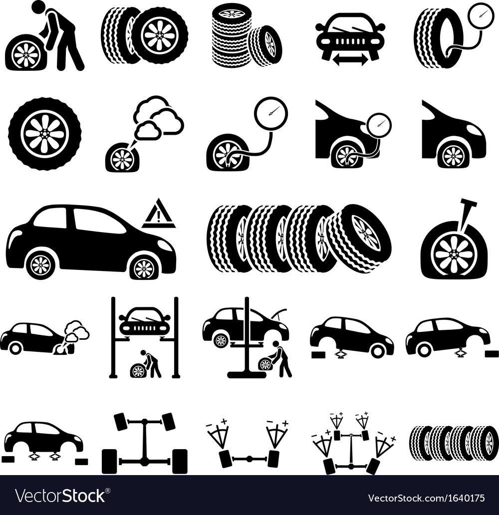 Auto repair Icons vector image