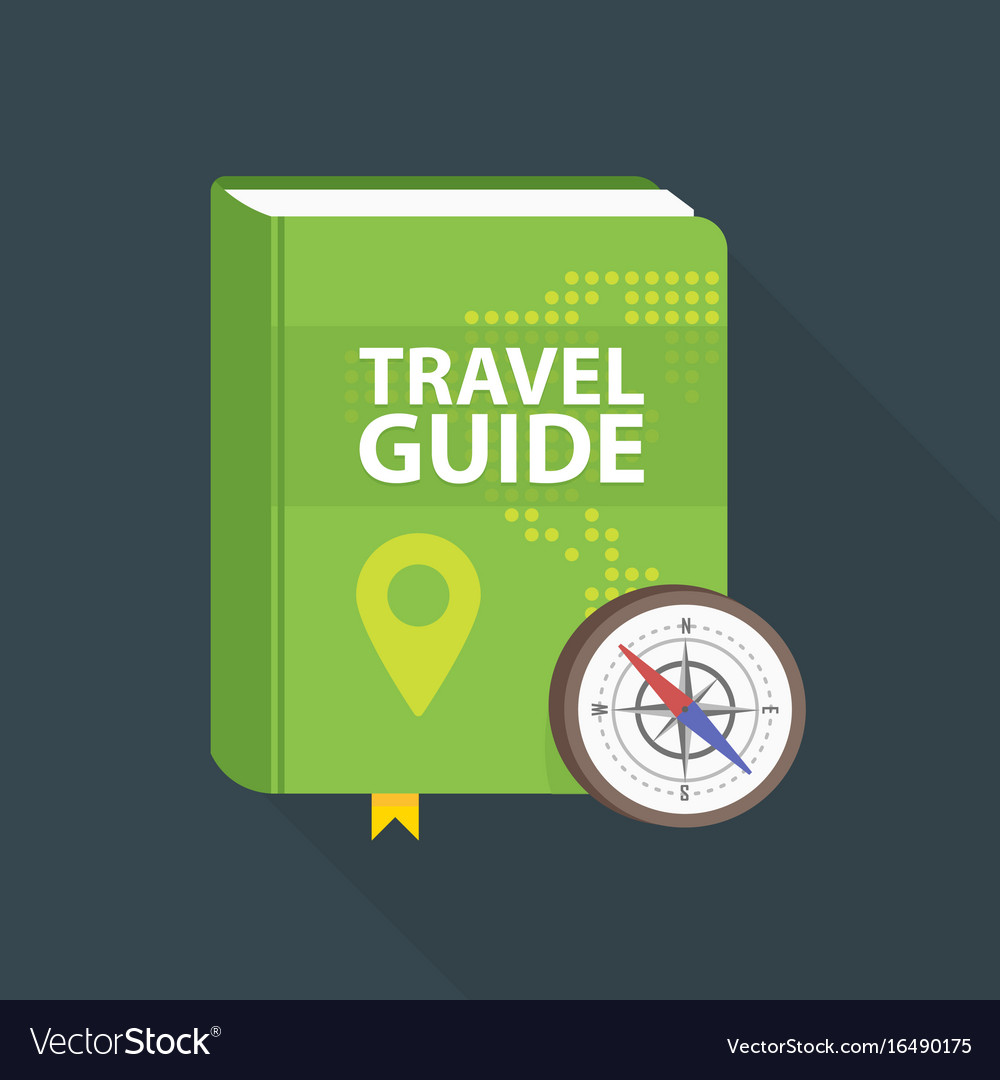 Travel guide book icon world map and pin in cover vector image gumiabroncs Images