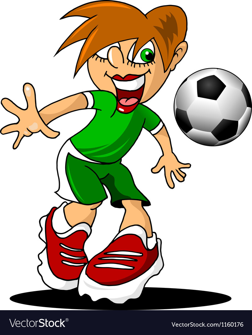 Cartoon football player vector image