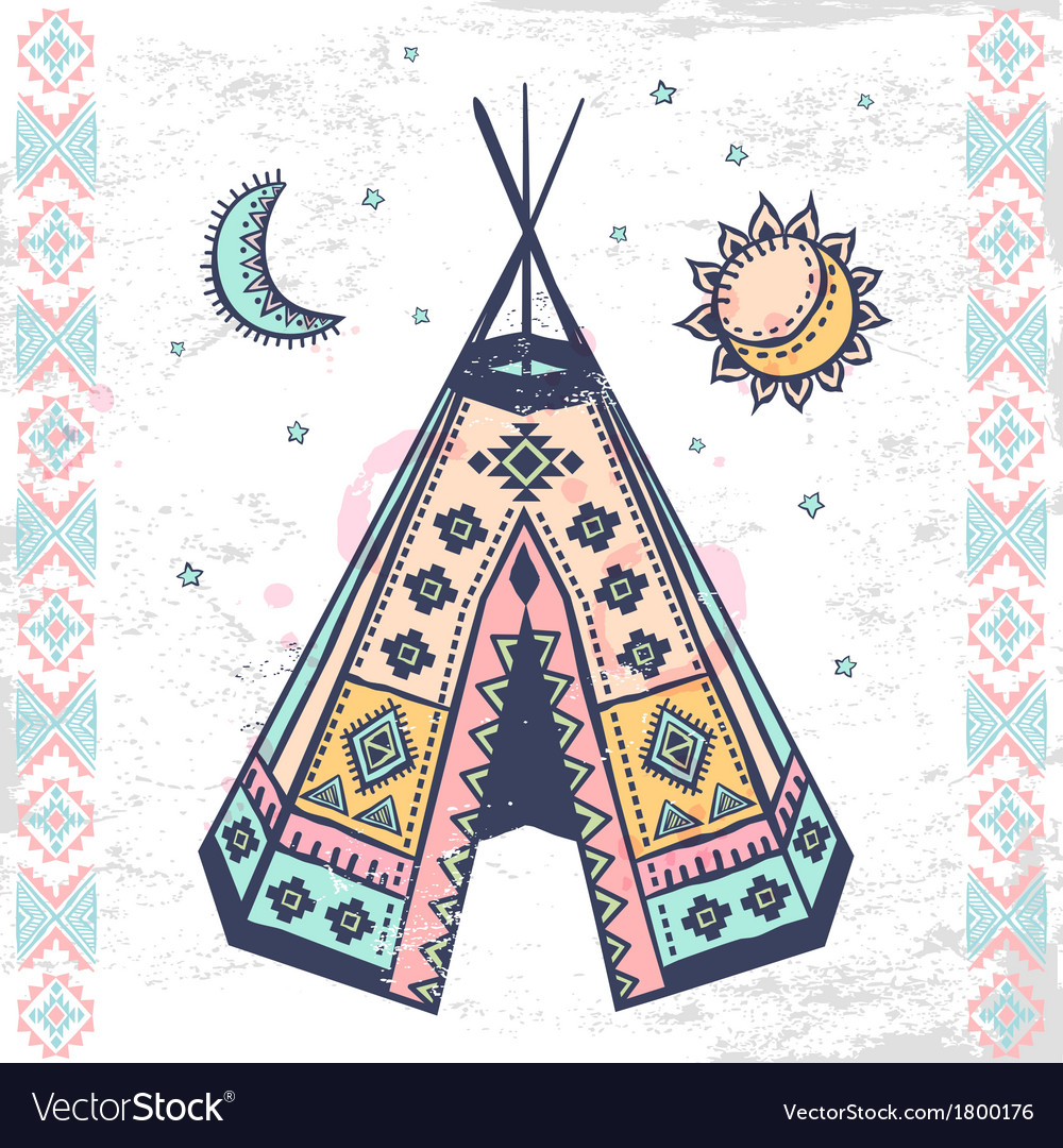 Tribal native american set of symbols royalty free vector tribal native american set of symbols vector image buycottarizona
