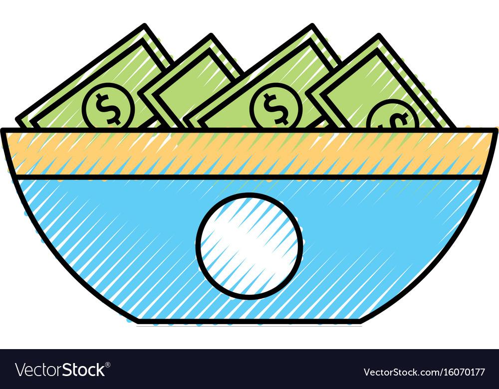 Bills money isolated icon vector image