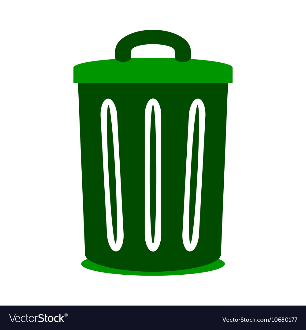 Garbage symbol icon on white vector image