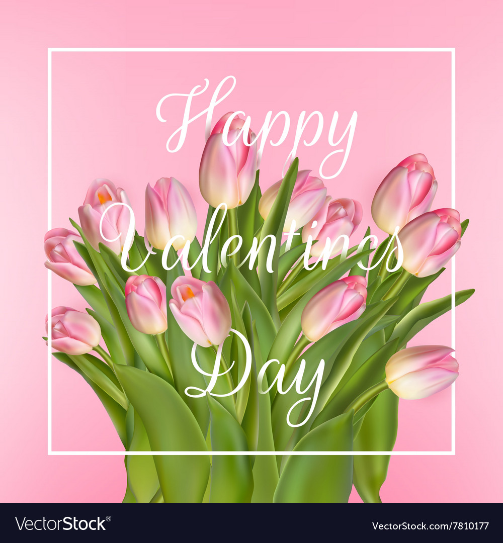 Valentines day greeting card EPS 10 vector image