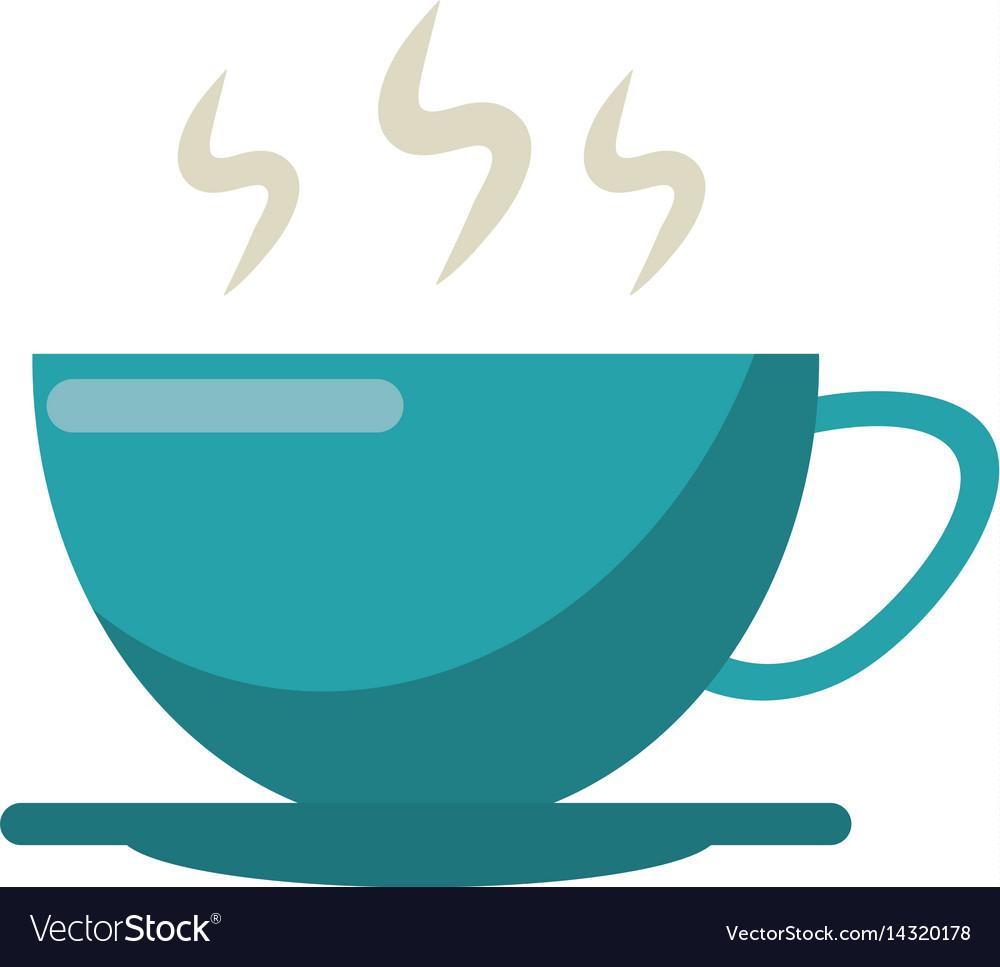 Cup of coffee smoke hot vector image