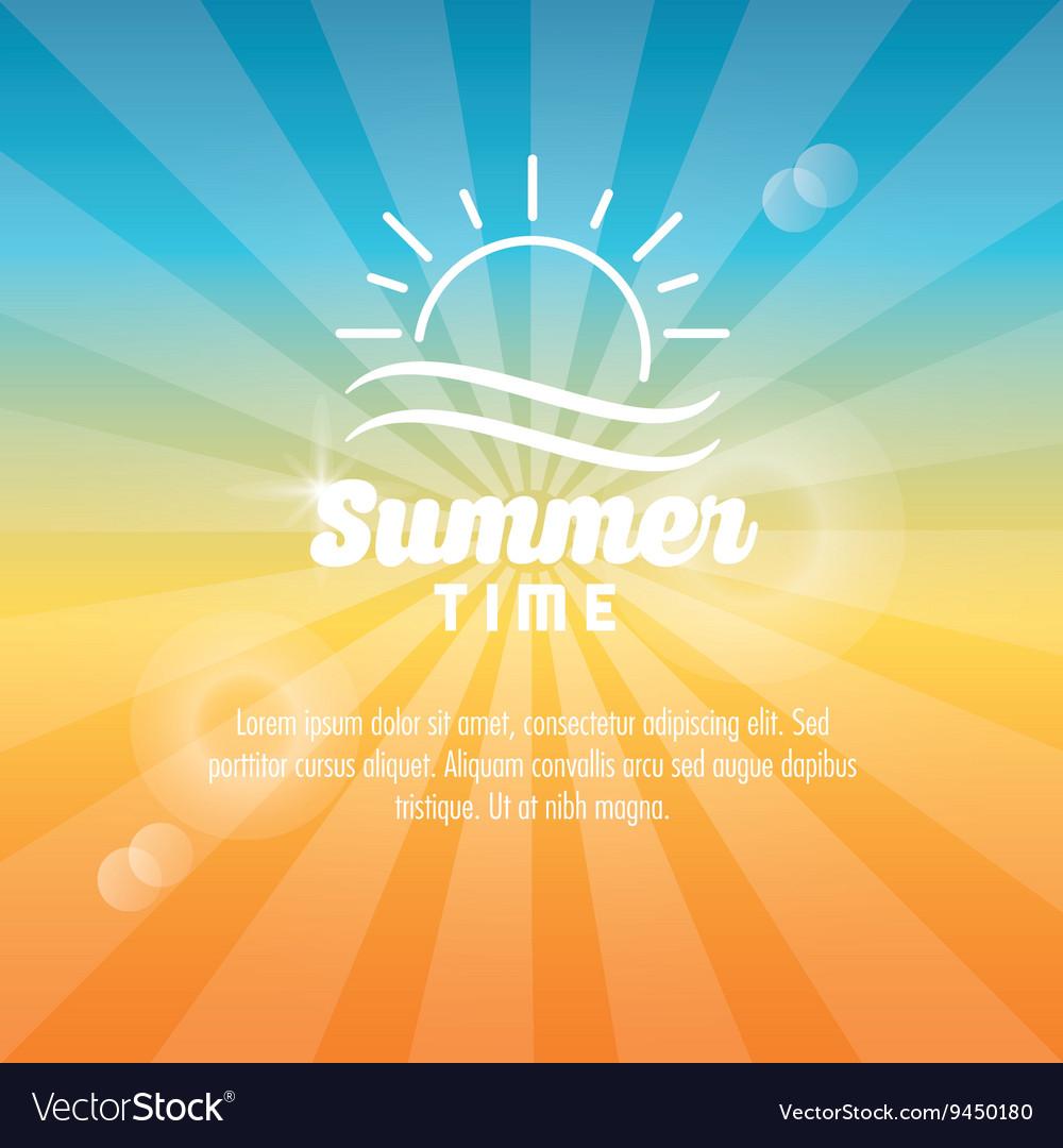 Summer design sun icon graphic vector image