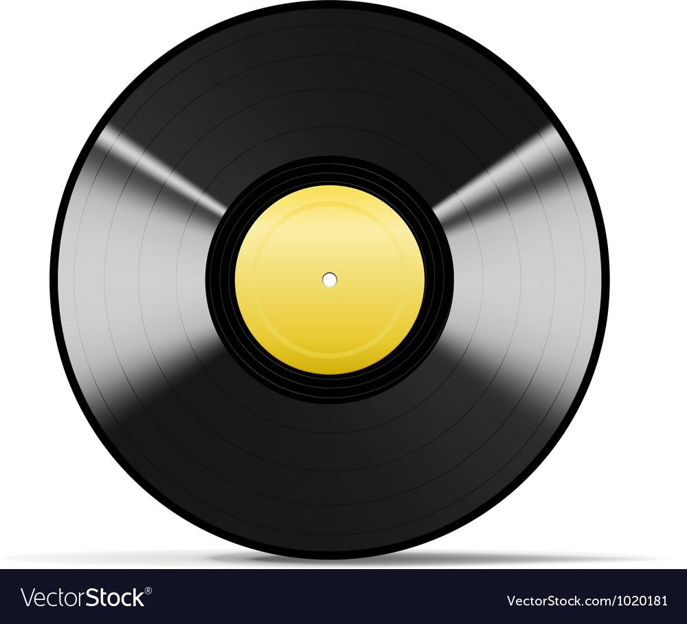 Black Vinyl vector image