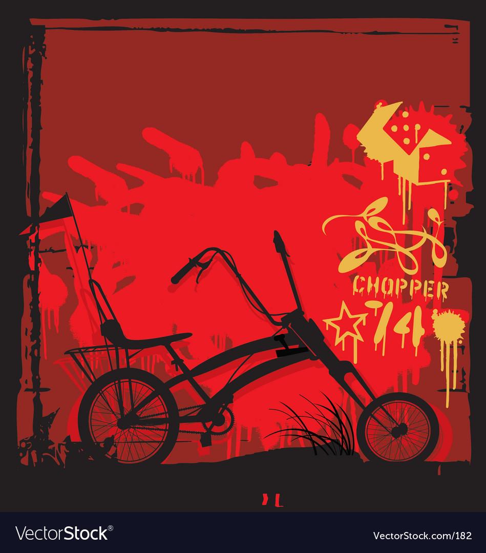 Chopper bike illustration vector image