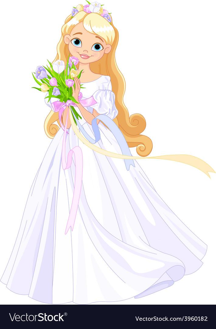 Spring princess vector image