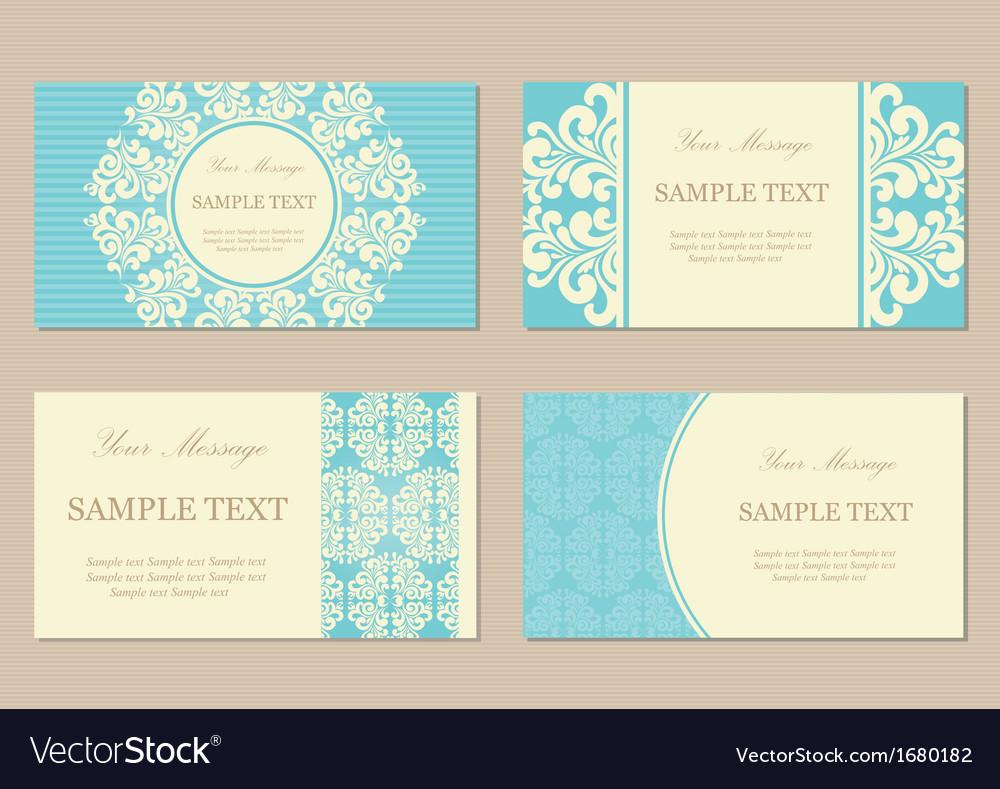 Vizit cards4 blue vector image
