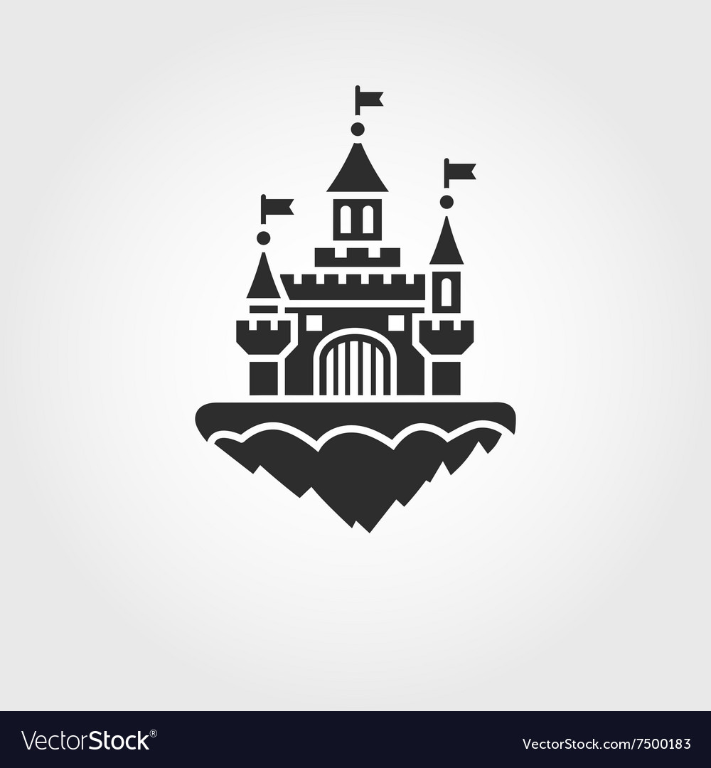 Abstract castle icon vector image