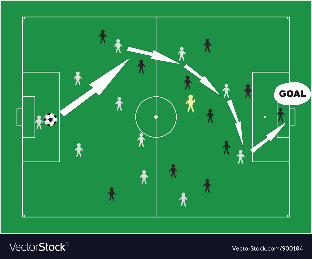Winning strategy vector image