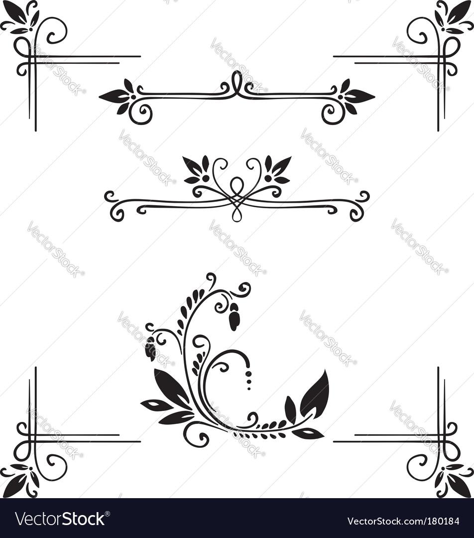 Decor elements vector image