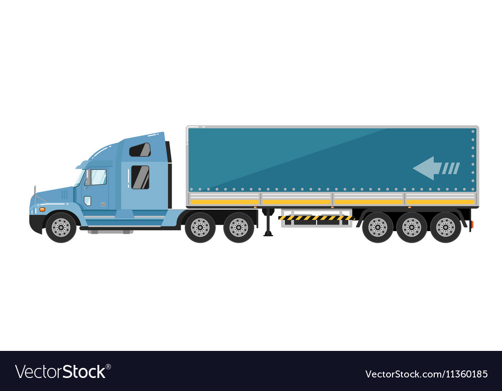 Freight truck isolated on white background vector image