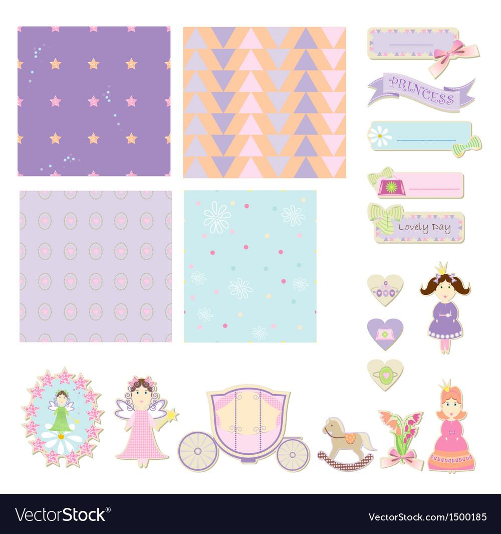 Little Princess Set vector image