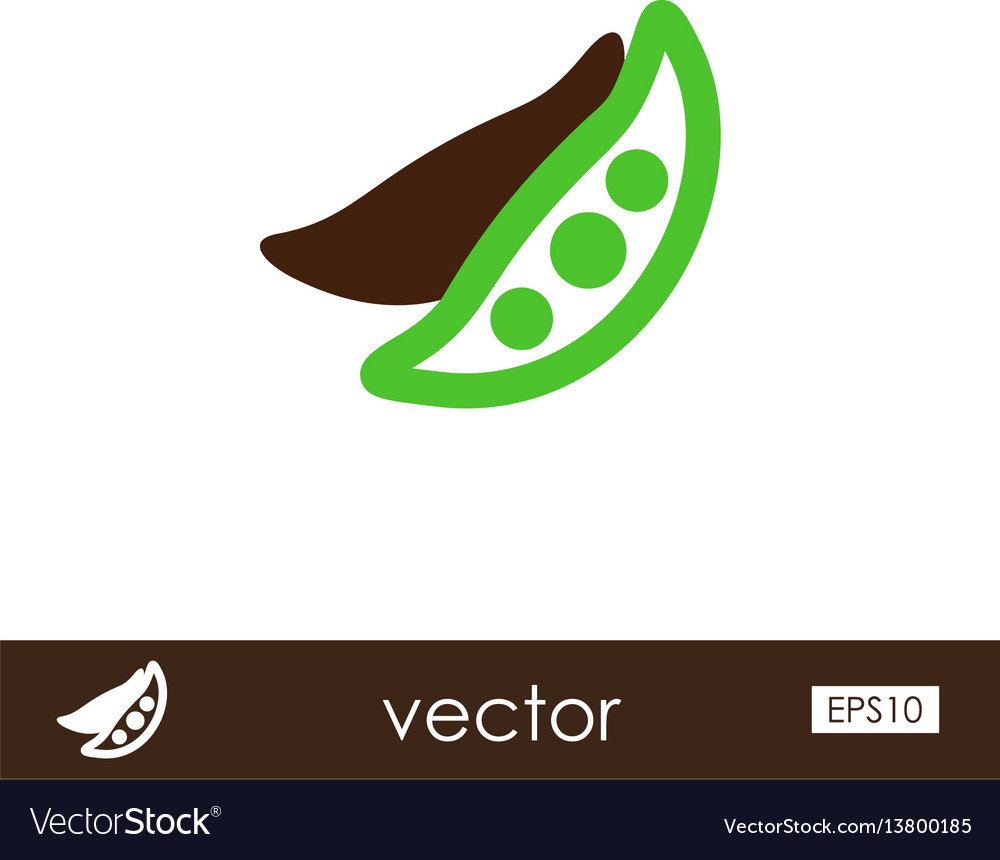 Pea outline icon vegetable vector image