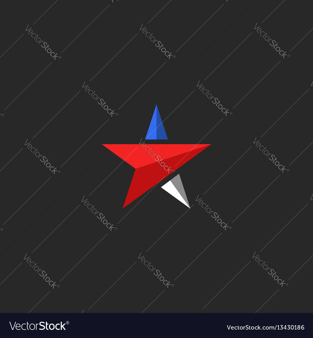 Star logo mockup usa patriotic icon design vector image