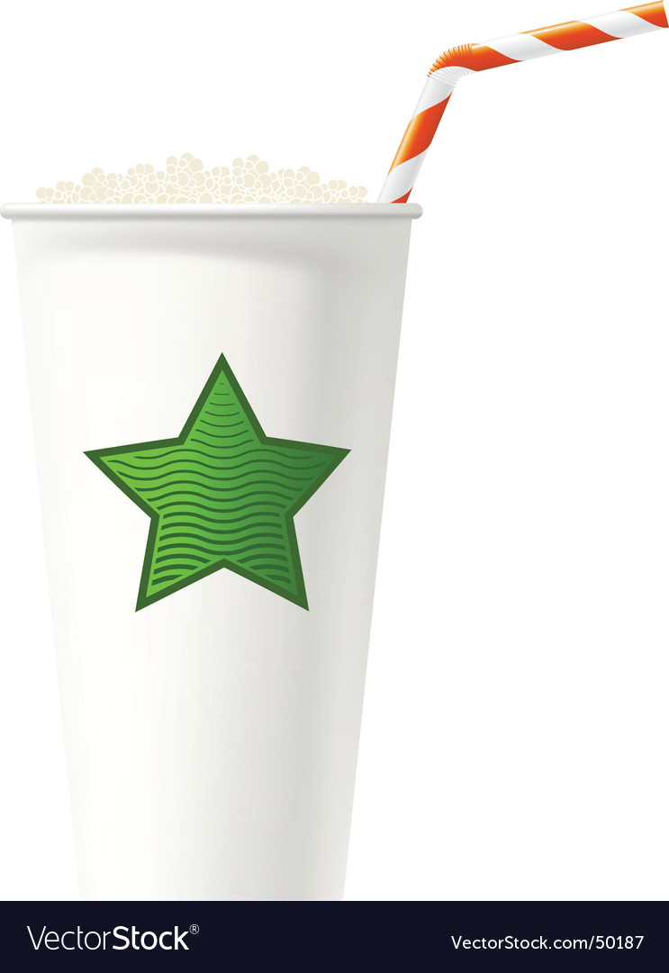 White paper or plstic cup Vector Image