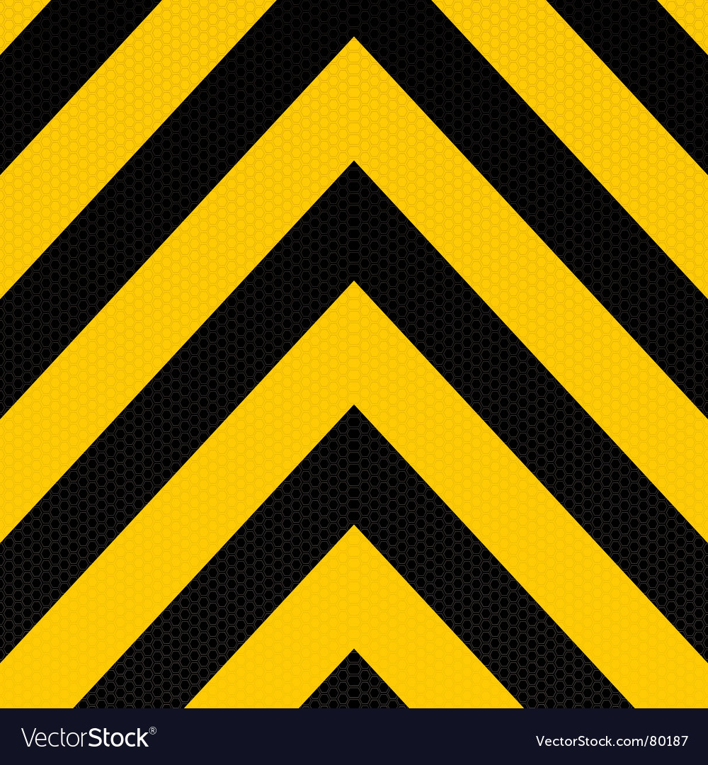 Arrow warning stripe vector image