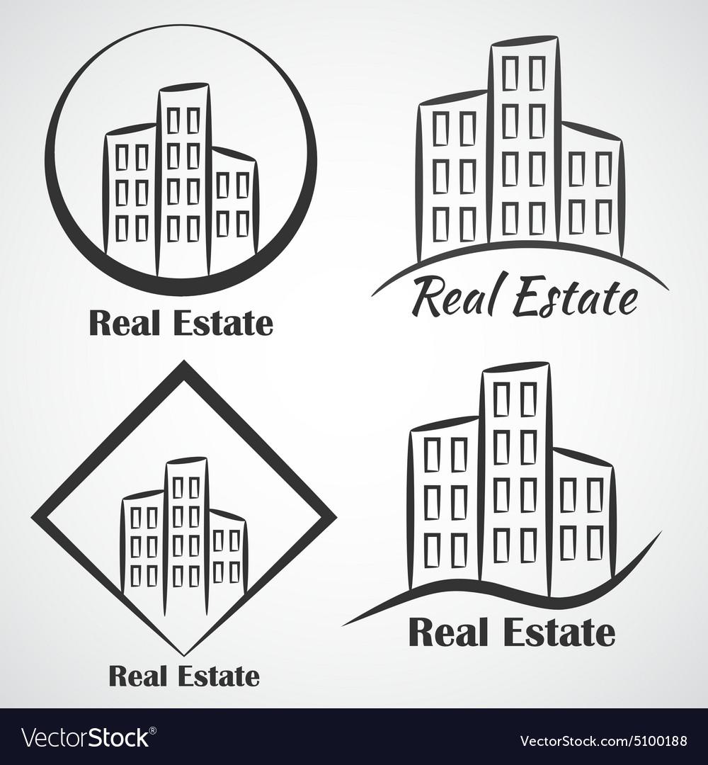Real Estate company logotype icon vector image