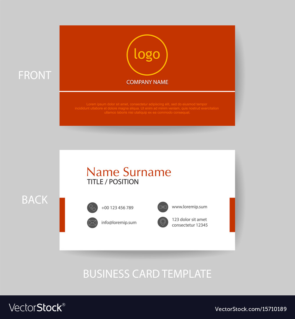 Modern and clean business card design template vector image modern and clean business card design template vector image magicingreecefo Choice Image