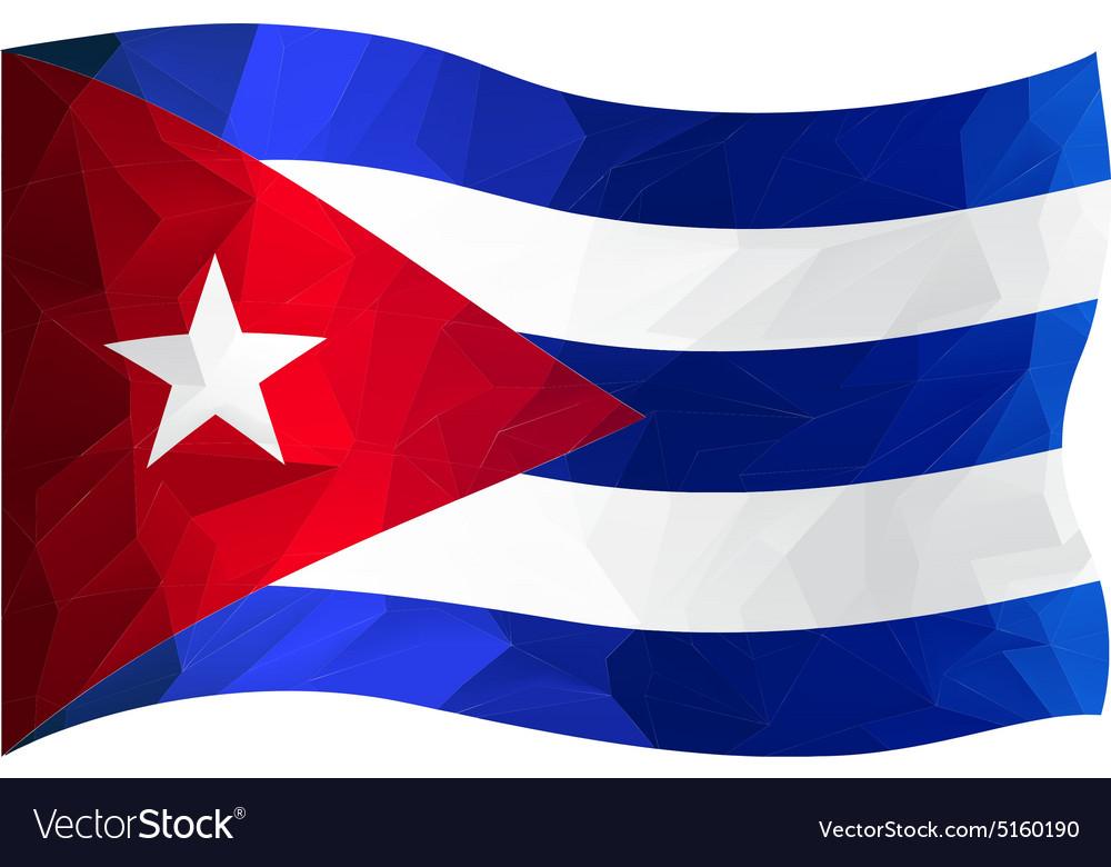 Flag CUBA vector image