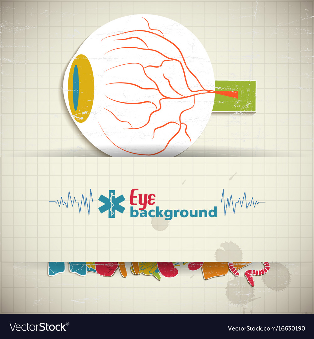 Flat eye background vector image