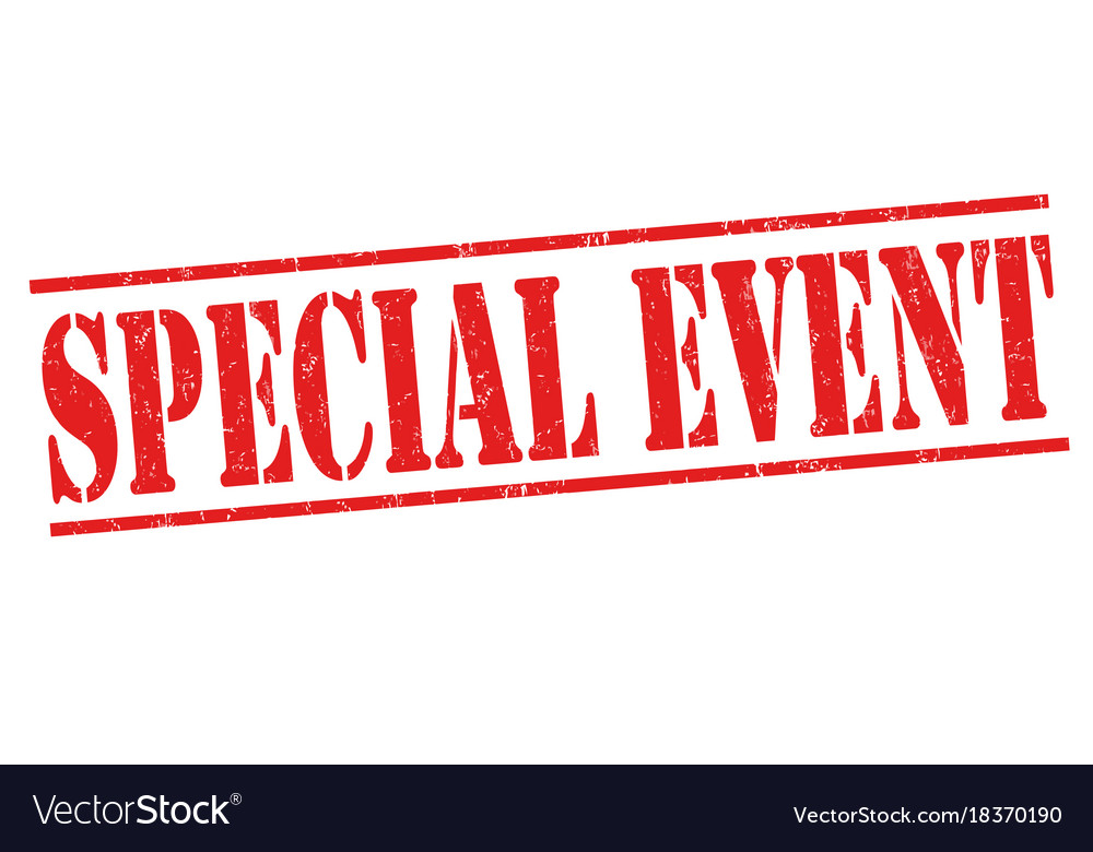 Special event grunge rubber stamp vector image