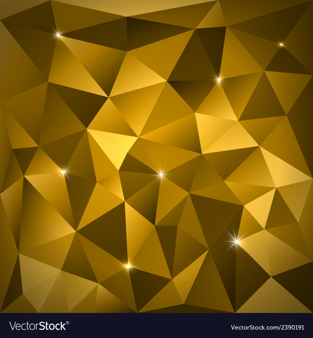 Gold Triangles vector image