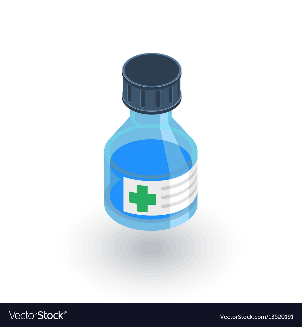 Mixture medical isometric flat icon 3d vector image
