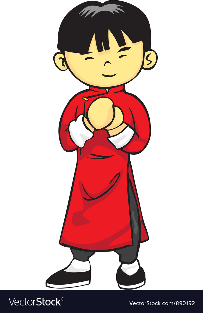 Chinese Boy Royalty Free Vector Image