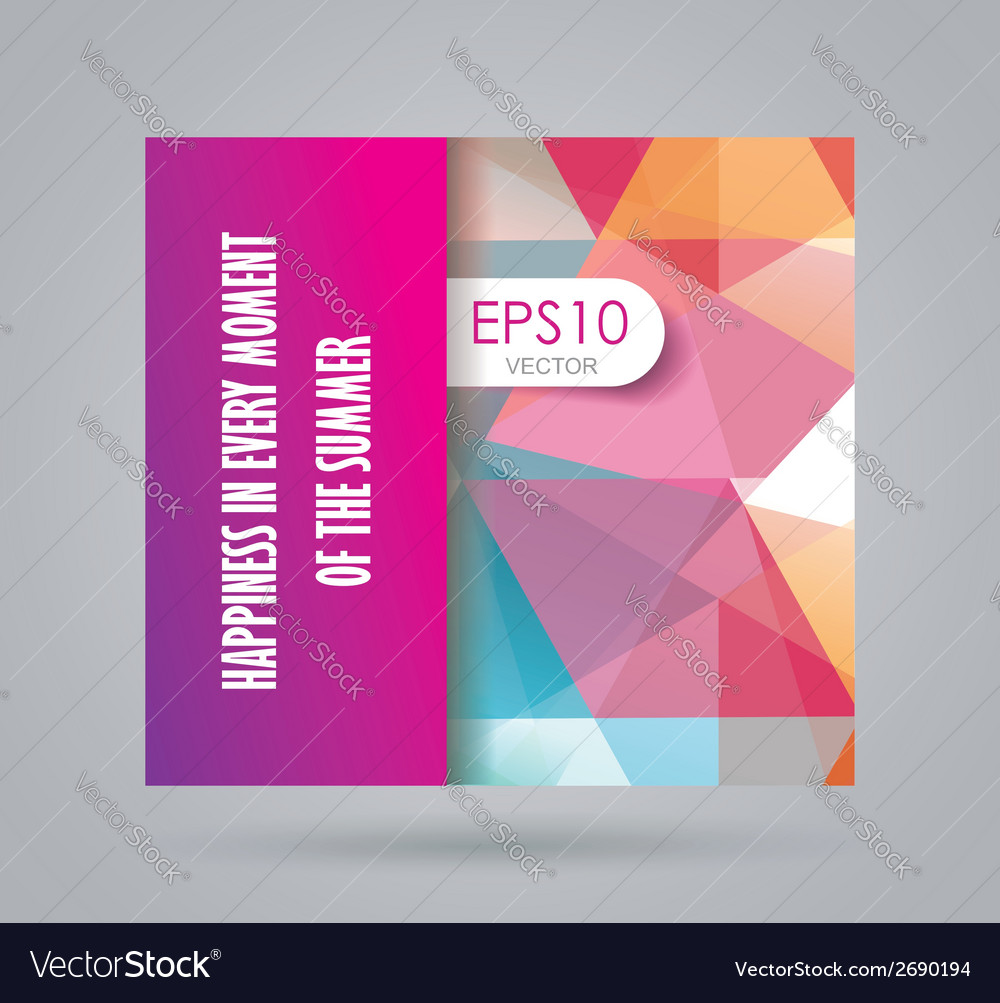 Bright summer card with abstract geometric vector image