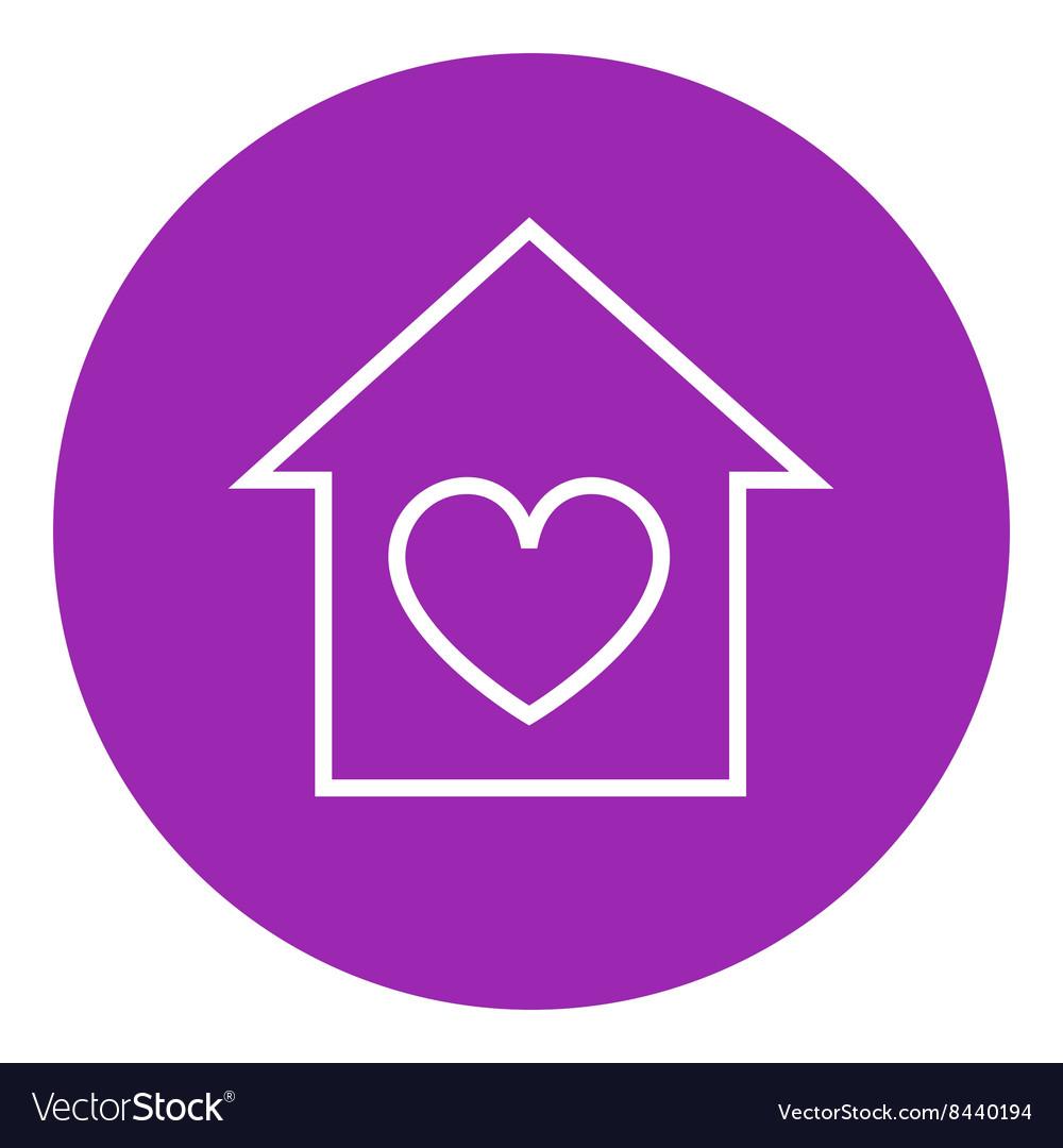 House with heart symbol line icon royalty free vector image house with heart symbol line icon vector image buycottarizona