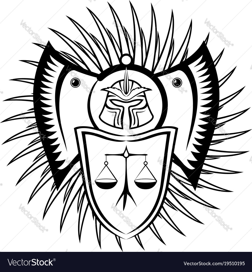 Black symbol of law vector image