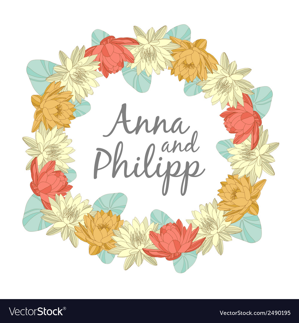 Wedding invitation cards with floral elements vector image wedding invitation cards with floral elements vector image stopboris Image collections