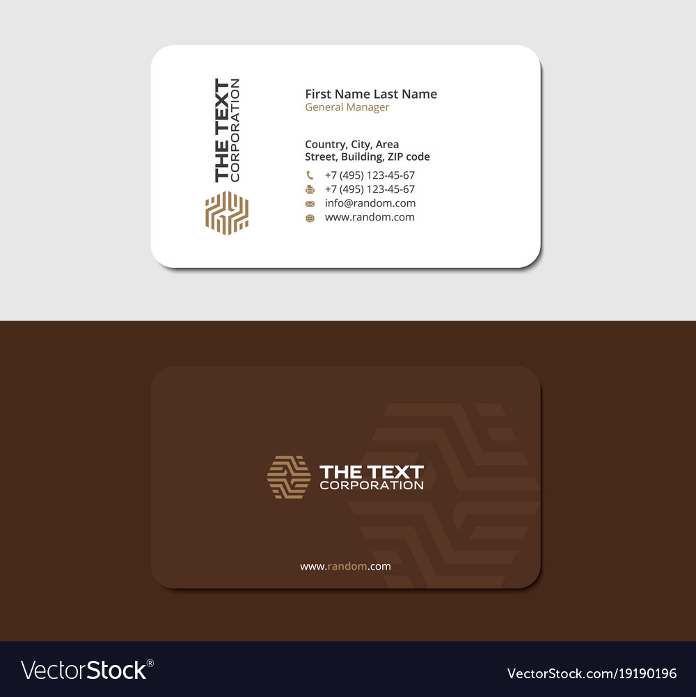 Brown business card parquet and laminate Vector Image