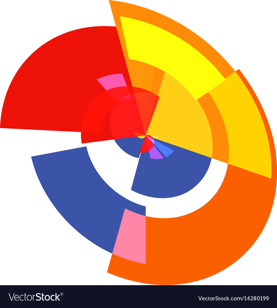 Isolated abstract colorful pie chart logo round vector image nvjuhfo Choice Image