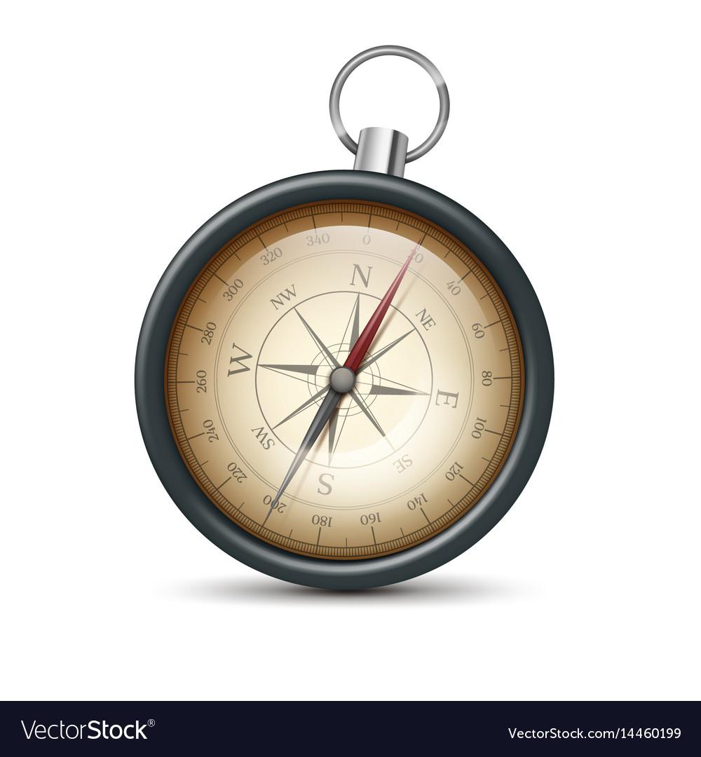Retro metal compass vector image