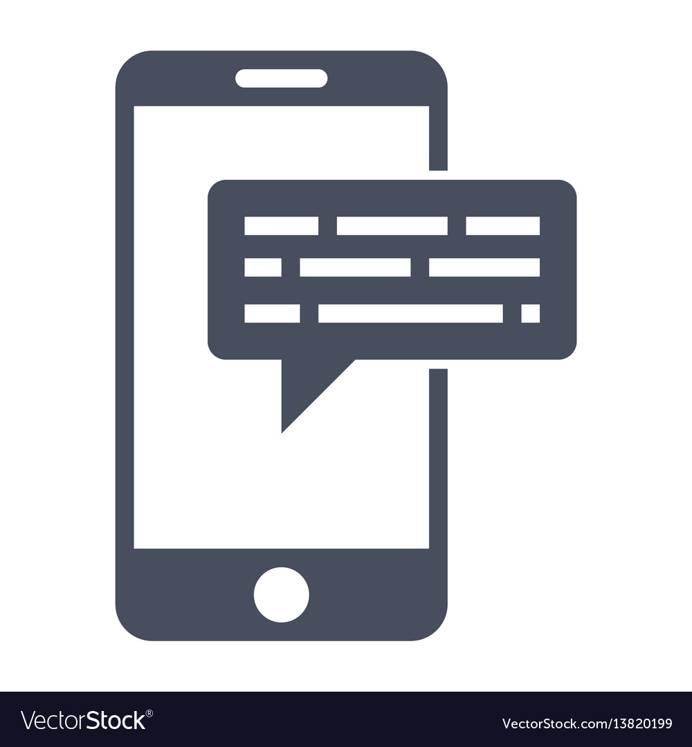 Smartphone sms icon vector image