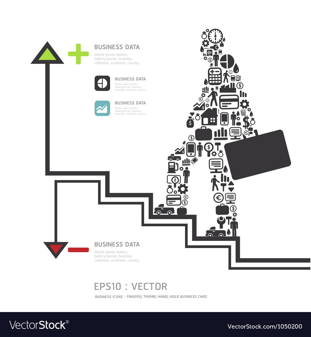 Elements are small icons Finance make in businessm vector image