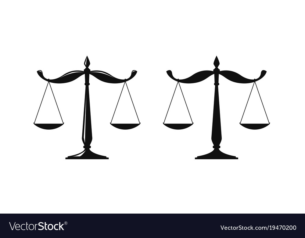 Libra judicial scales logo notary justice vector image