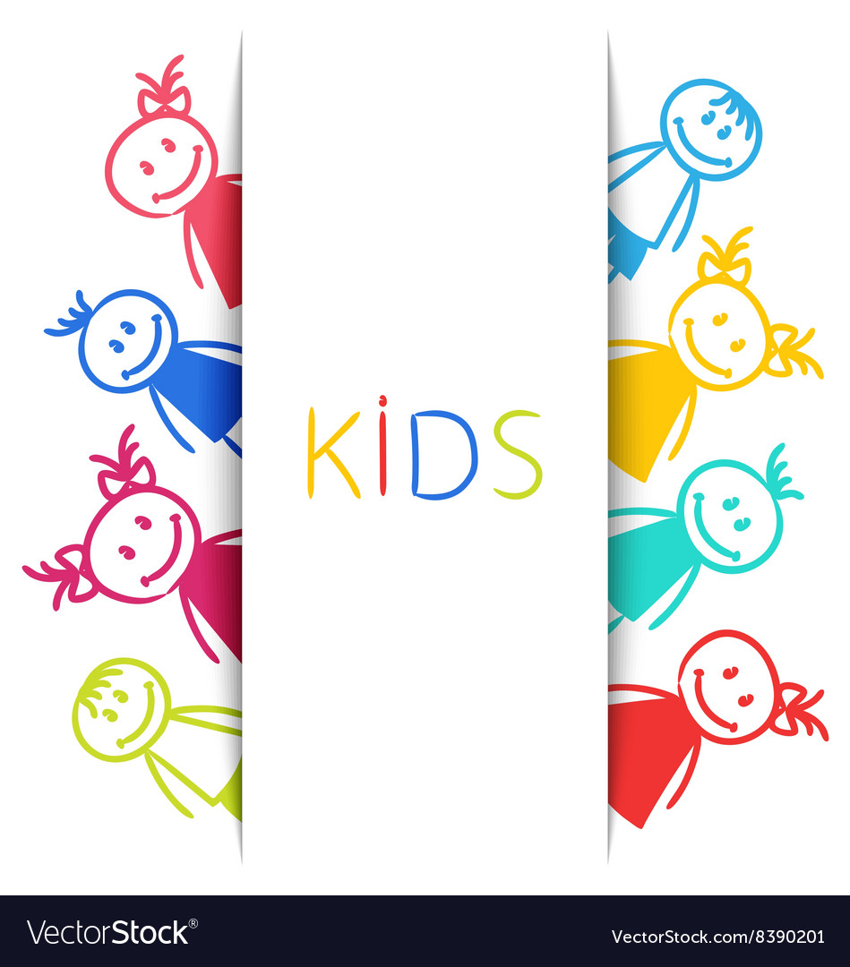 Cartoon Colorful Children Sketch Style vector image