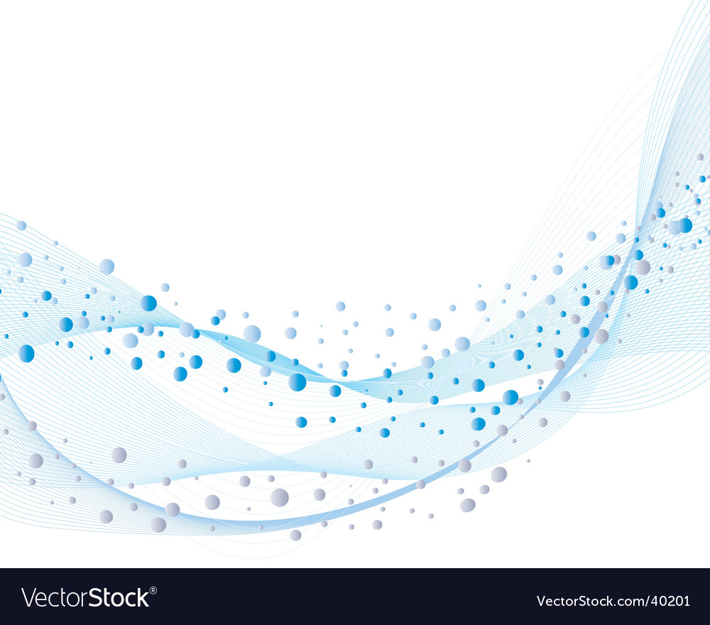 Water and bubbles vector image