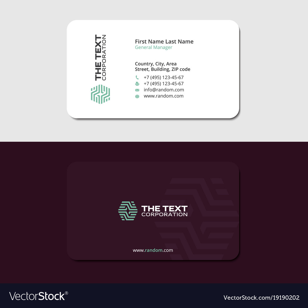 Laminated business card Royalty Free Vector Image
